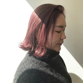 ブリーチ ガーリー ミニボブ デート ヘアスタイルや髪型の写真・画像 ヘアスタイルや髪型の写真・画像