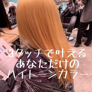ナチュラル バレイヤージュ 外国人風 ロング ヘアスタイルや髪型の写真・画像