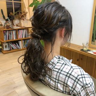 ヘアアレンジ 編み込み パーティ 簡単ヘアアレンジ ヘアスタイルや髪型の写真・画像