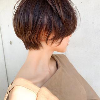ベリーショート ショートボブ ミニボブ ショート ヘアスタイルや髪型の写真・画像