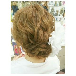 色気 結婚式 ナチュラル セミロング ヘアスタイルや髪型の写真・画像