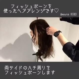 フェミニン ルーズ デート セミロング ヘアスタイルや髪型の写真・画像 ヘアスタイルや髪型の写真・画像
