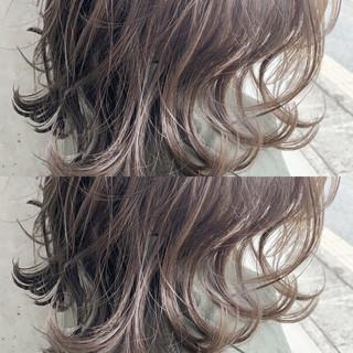 ブラウンベージュ 透明感カラー グラデーションカラー ベージュ ヘアスタイルや髪型の写真・画像