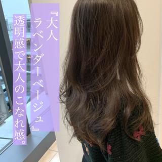 透明感カラー イルミナカラー ロング コスメ・メイク ヘアスタイルや髪型の写真・画像