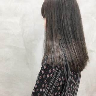 ホワイトハイライト 地毛ハイライト ナチュラル ハイライト ヘアスタイルや髪型の写真・画像