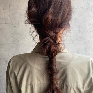 簡単ヘアアレンジ ヘアセット 紐アレンジ ロング ヘアスタイルや髪型の写真・画像