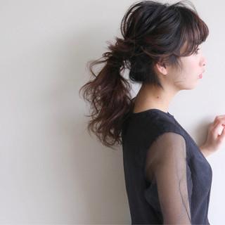 ヘアアレンジ フェミニン 結婚式 ロープ編み ヘアスタイルや髪型の写真・画像
