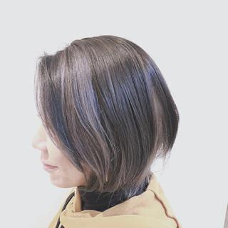 グラデーションカラー アッシュ ストリート バレイヤージュ ヘアスタイルや髪型の写真・画像