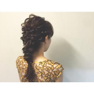 編み込み ハーフアップ 夏 簡単ヘアアレンジ ヘアスタイルや髪型の写真・画像 ヘアスタイルや髪型の写真・画像
