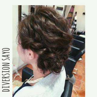波ウェーブ ヘアアレンジ 編み込み ロープ編み ヘアスタイルや髪型の写真・画像
