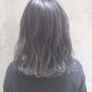 ナチュラル オフィス ゆるふわ ミディアム ヘアスタイルや髪型の写真・画像