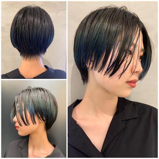 PEEK-A-BOO ショート デザインカラー モード ヘアスタイルや髪型の写真・画像