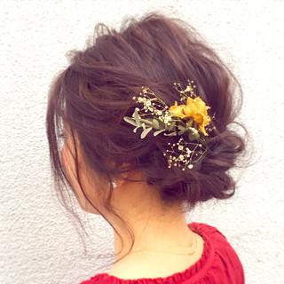 ゆるふわ 大人女子 編み込み ヘアアレンジ ヘアスタイルや髪型の写真・画像