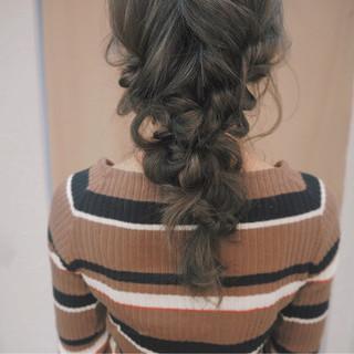 簡単ヘアアレンジ 編み込み ヘアアレンジ 透明感 ヘアスタイルや髪型の写真・画像