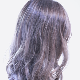 アンニュイ ボブ ウェーブ バレイヤージュ ヘアスタイルや髪型の写真・画像