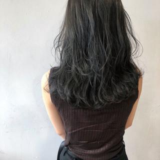 暗髪 ミディアム 就活 ナチュラル ヘアスタイルや髪型の写真・画像