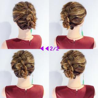 結婚式 アウトドア ボブ ヘアアレンジ ヘアスタイルや髪型の写真・画像