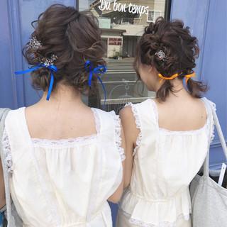 ミディアム ツインテール ガーリー ヘアアレンジ ヘアスタイルや髪型の写真・画像
