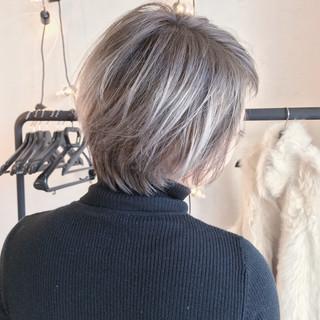 ショート 外ハネ デート ヘアアレンジ ヘアスタイルや髪型の写真・画像