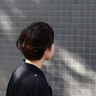 ショートヘア マッシュウルフ ショート ネオウルフ ヘアスタイルや髪型の写真・画像