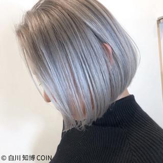 バレイヤージュ ボブ ショート モード ヘアスタイルや髪型の写真・画像