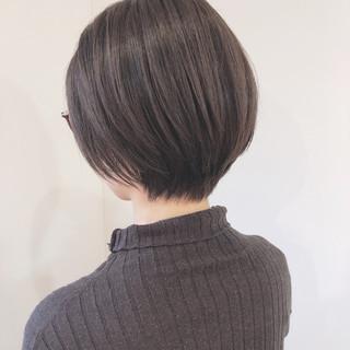 大人カジュアル ショートボブ 大人かわいい ショート ヘアスタイルや髪型の写真・画像