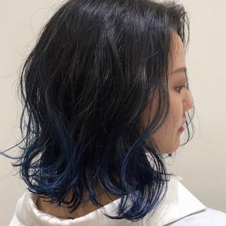 グラデーションカラー 裾カラー ボブ エレガント ヘアスタイルや髪型の写真・画像