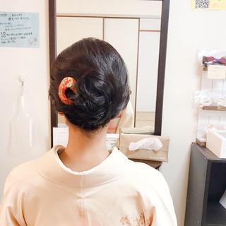 ヘアアレンジ 上品 結婚式 着物 ヘアスタイルや髪型の写真・画像 | Moriyama Mami / 福岡天神ヘアセット・着付け専門店【Three-keys】