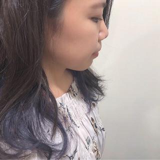 ガーリー グラデーションカラー ロング インナーカラー ヘアスタイルや髪型の写真・画像