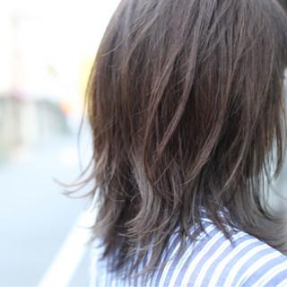 グラデーションカラー アッシュ セミロング ストリート ヘアスタイルや髪型の写真・画像 ヘアスタイルや髪型の写真・画像
