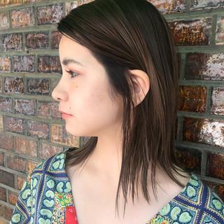 ハイライト 女子力 透明感 ボブ ヘアスタイルや髪型の写真・画像