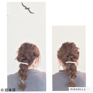 ロング ショート 編み込み ヘアアレンジ ヘアスタイルや髪型の写真・画像 ヘアスタイルや髪型の写真・画像