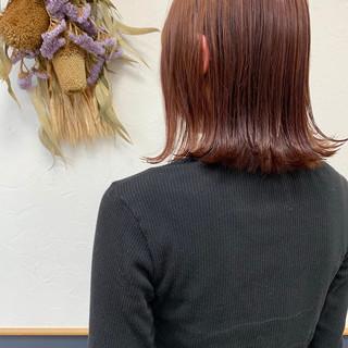 切りっぱなしボブ バイオレット バイオレットカラー ボブ ヘアスタイルや髪型の写真・画像