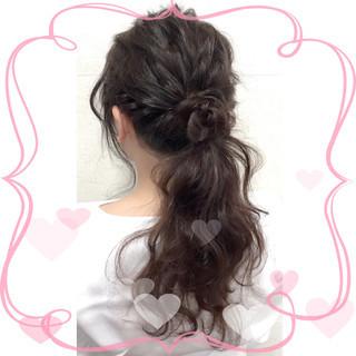 外国人風 ショート ハーフアップ 簡単ヘアアレンジ ヘアスタイルや髪型の写真・画像