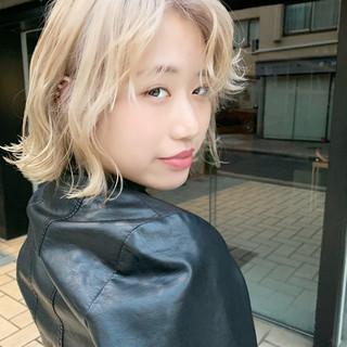 ハイトーン かわいい 外国人風カラー 金髪 ヘアスタイルや髪型の写真・画像