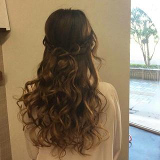 ヘアアレンジ 編み込み 結婚式 エレガント ヘアスタイルや髪型の写真・画像 ヘアスタイルや髪型の写真・画像