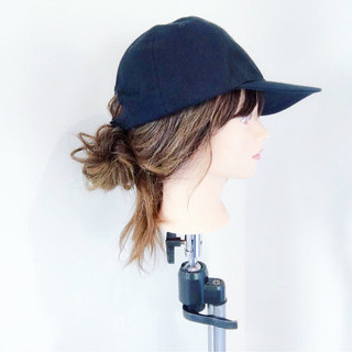 ポニーテール スポーツ セミロング フェミニン ヘアスタイルや髪型の写真・画像