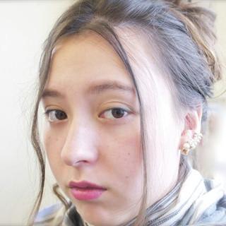 ショート セミロング ヘアアレンジ 夏 ヘアスタイルや髪型の写真・画像 ヘアスタイルや髪型の写真・画像