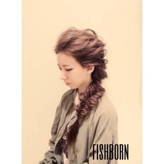 フィッシュボーン 愛され モテ髪 大人かわいい ヘアスタイルや髪型の写真・画像