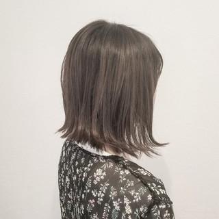 夏 ナチュラル 切りっぱなし 涼しげ ヘアスタイルや髪型の写真・画像