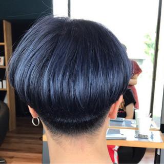 ショート ボブ 刈り上げ シルバー ヘアスタイルや髪型の写真・画像