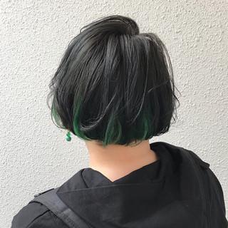 ブリーチ カラーバター ダブルカラー モード ヘアスタイルや髪型の写真・画像