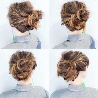 女子会 涼しげ ボブ ヘアアレンジ ヘアスタイルや髪型の写真・画像