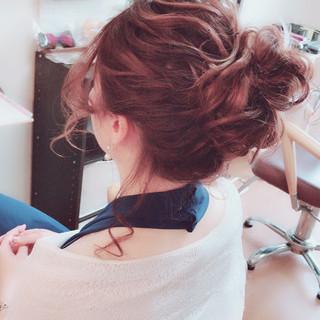エレガント ヘアアレンジ 結婚式 パーティ ヘアスタイルや髪型の写真・画像
