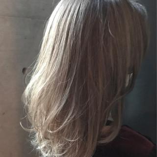 ロブ ミディアム ゆるふわ 透明感 ヘアスタイルや髪型の写真・画像