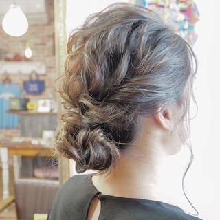 ボブ 結婚式ヘアアレンジ ヘアセット エレガント ヘアスタイルや髪型の写真・画像