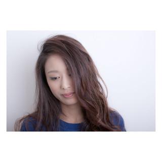 外国人風 アッシュ 大人女子 ロング ヘアスタイルや髪型の写真・画像