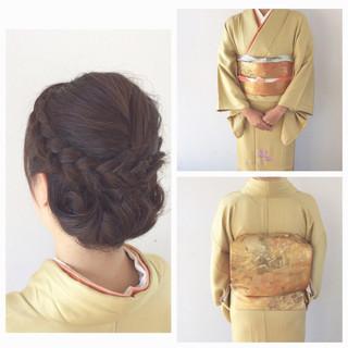 ショート 簡単ヘアアレンジ ヘアアレンジ 和装 ヘアスタイルや髪型の写真・画像