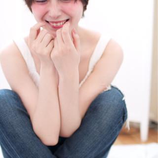 ピュア 暗髪 ショート ストレート ヘアスタイルや髪型の写真・画像