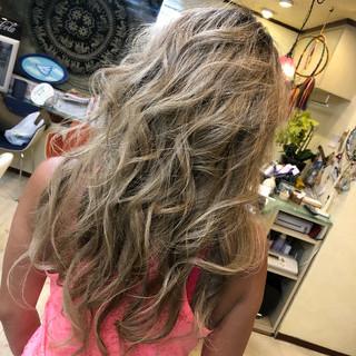 上品 外国人風カラー エレガント 白髪染め ヘアスタイルや髪型の写真・画像